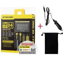 Nitecore D4 D2 nowy I4 nowy I2 Digicharger LCD inteligentny Li ion AA AAA 18650 14500 16340 26650 szybkie ładowanie akumulatora/ładowanie samochodu D5