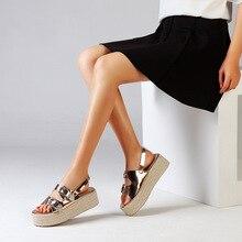 8bcf716d4bb3 Yu Kube Summer Sandals Shoes Woman Flat Sandals Women Double Metal Buckle  Platform Sandalias Mujer 2019