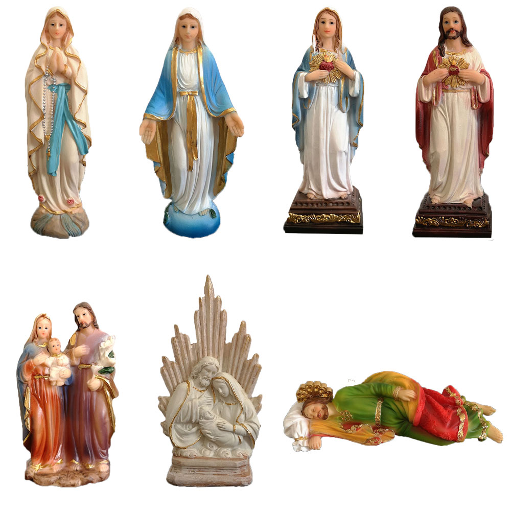 Religious Figurine Resin Holy Family Statue,Jesus Sacred Heart Statue,Blessed Virgin Mary Statue,Our Lady Of Lourdes