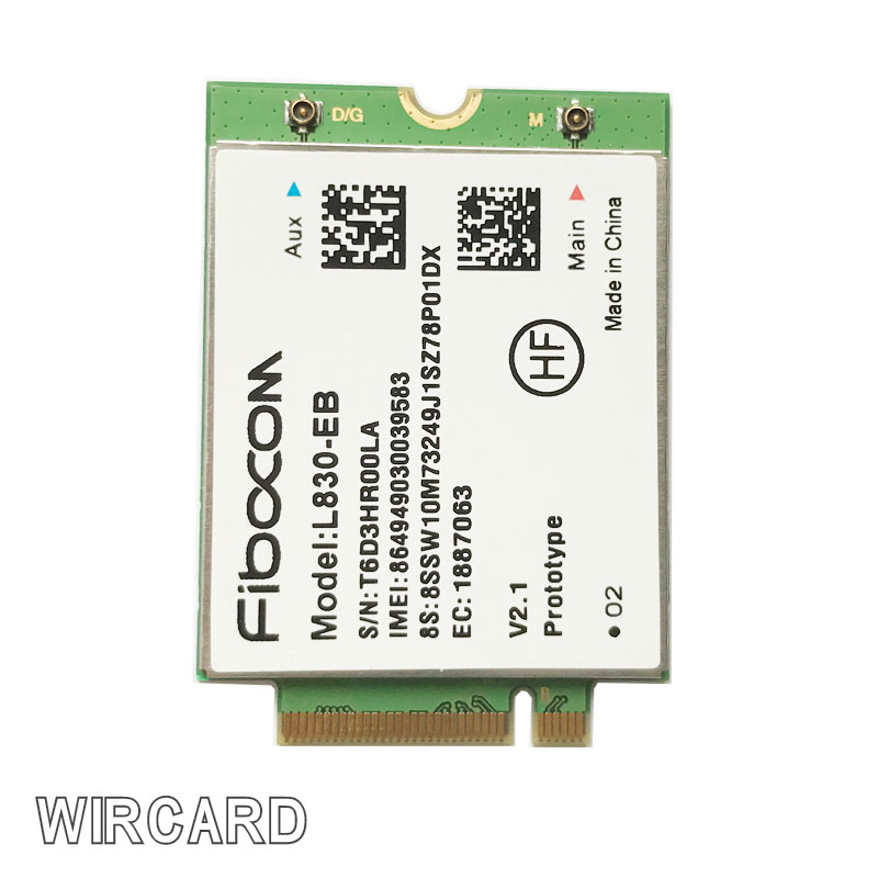 L830-EB LTE 4G Wireless 4G Card For THINKPAD X380/T480S/T480/X280/T580/L580/L480/S1 Gen 4