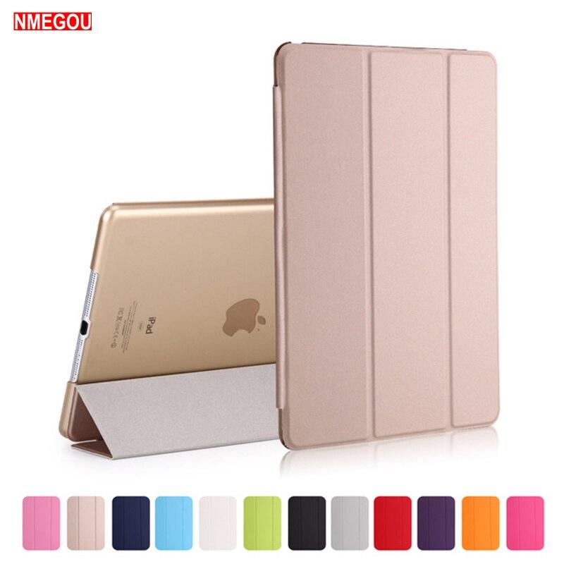 Luxo tablet à prova de choque inteligente suporte de couro caso capa para apple ipad ar 9.7 Polegada 2017 2018 pu wake para i almofada 5 ipad5 coque