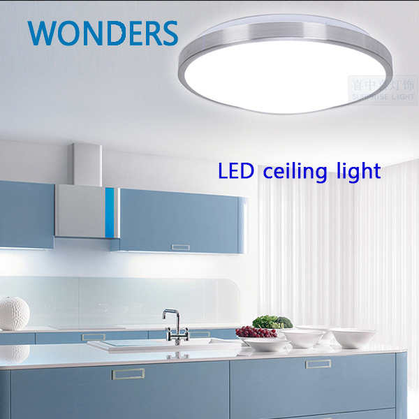 Kitchen Ceiling Lights With Led Bulbs: SMD5730 Minimalism Aluminum LED Ceiling Light For Indoor