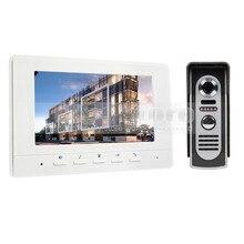 600TV Line DIYSECUR 7 pulgadas Teléfono Video de La Puerta de Intercomunicación de Vídeo IR Cámara de Visión Nocturna Al Aire Libre para el Hogar/la Oficina de Seguridad sistema