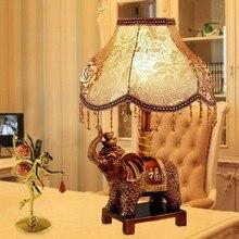 TUDA 2017 European Style Table Lamp for Bedroom Living Room Luxury Creative Resin Elephant Nightlight Tianyuan Decoration Lamp