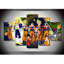 Modular Pictures Wall Art Home Decoration 5 Panel Popular Animation Dragon Ball Posters Living Room Prints Painting On Canvas