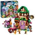 BELA Amigos 348 unids El Starlight Inn Hotel Building Blocks Elfos Figuras regalos de Navidad de Cumpleaños Juguetes Compatible Legoe 41174