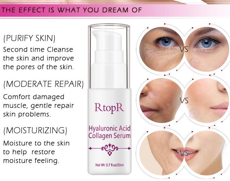 Hyaluronic Acid Serum + VC Snail Serum Collagen Serum Anti-Aging For men and women Moisturizing Skin Care Whitening Brighten 13