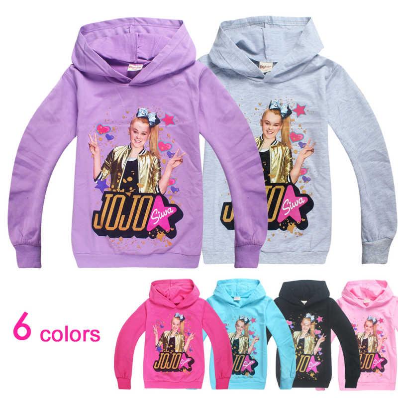 JOJO Siwa Girls Full Sleeves Hoodies Sweatshirts Spring Autumn Tops Clothes T Shirt Cosplay Costume