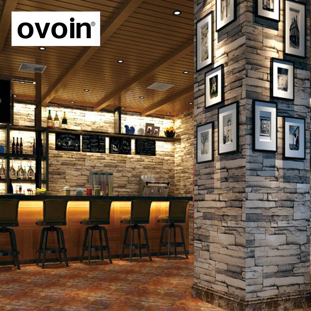 la sala de paredes de piedra en relieve papel pintado de ladrillo marrn gris textura de