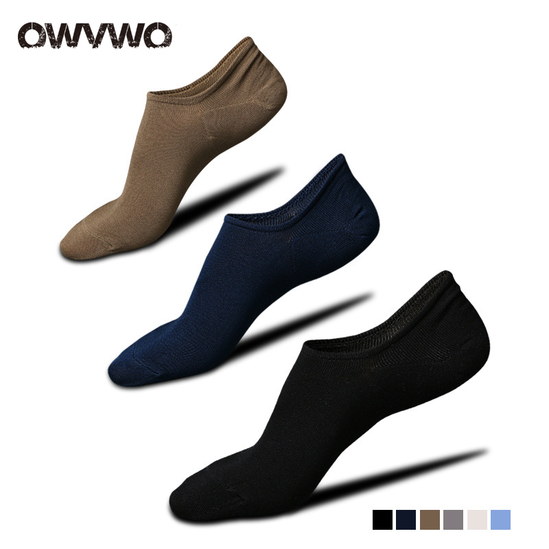 OWVWO 10 pairs/lot Mens combed socks high-end business socks happy funny socks