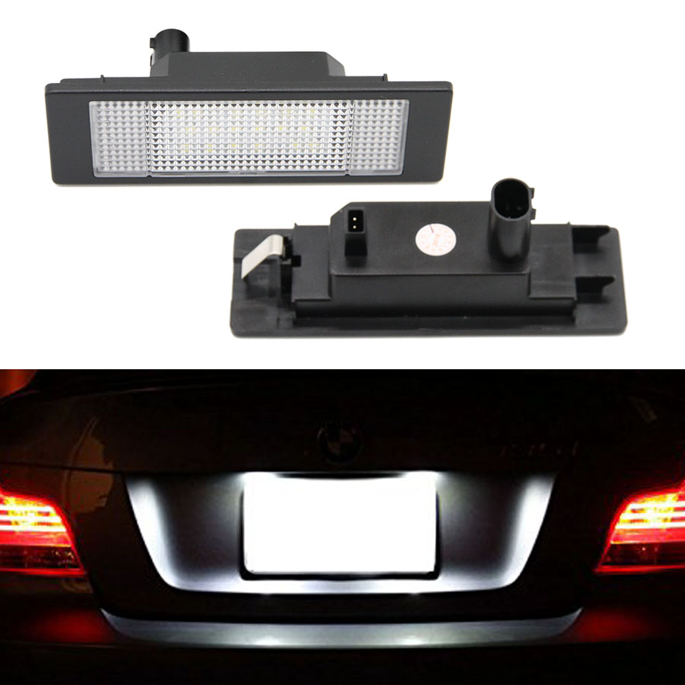 2pcs/lot Car LED License Number Plate Light No Error 24 Leds Trunk Lamp for BMW E81 E87 E63 E64 E89 Z4 F20 F21 Car Light Source2pcs/lot Car LED License Number Plate Light No Error 24 Leds Trunk Lamp for BMW E81 E87 E63 E64 E89 Z4 F20 F21 Car Light Source