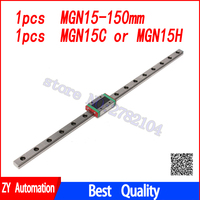 15mm prowadnica liniowa MGN15 150mm liniowe szyny droga + MGN15C lub MGN15H długi liniowy wózek dla CNC X Y osi Z w Prowadnice liniowe od Majsterkowanie na