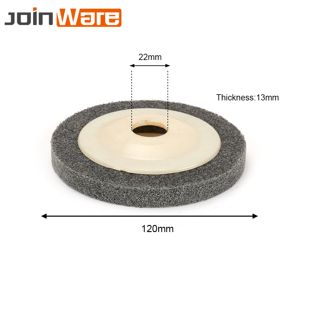 10Pcs 5'' 120mm Fiber Grinding Sanding Disc Polishing Wheel Pad Grey Abrasive Tool Buffing Metal Wood 9P Bore 22mm fiber polishing buffing wheel grit nylon abrasive 25mm thickness 7p hardness 32mm id