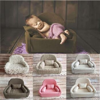 Newborn Photography Props Posing Sofa Baby Mini Sofa Infant Studio Shooting Baby Posing Pillow Cusion Fotografia Accessories shoulder bag