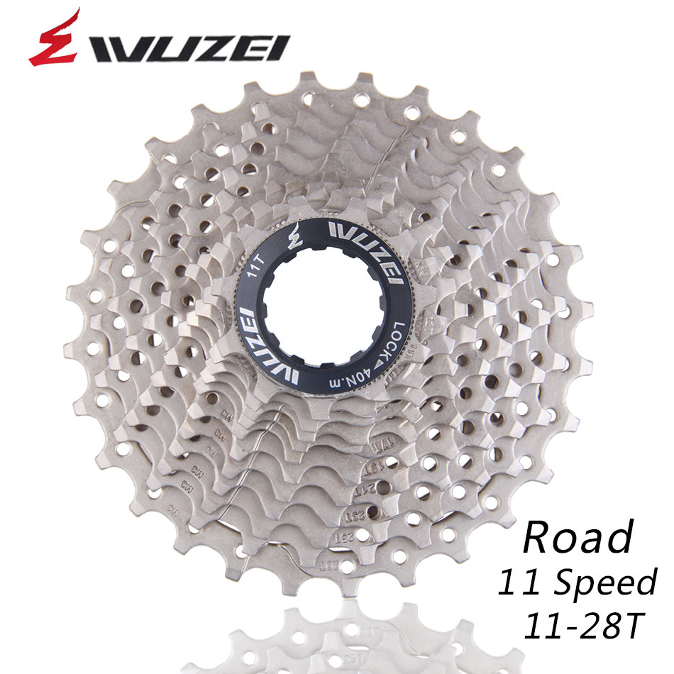 WUZEI 11S 11 28T Free Wheels Road Bicycle Flywheel Steel 11 Speed Cassette Sprocket 11 28T Compatible for Parts 150 5800