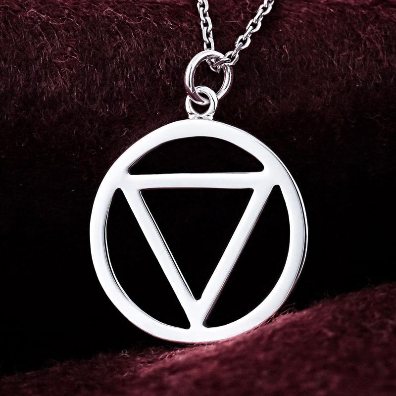 Silver Necklace Naruto Akatsuki Organization Hidan Cosplay Pendant Sterling New