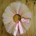 Oro rosa Glittery falda del tutú del bebé con emparejan venda del bebé de las muchachas de la falda oro de smash torta apoyo de la foto de cumpleaños de la muchacha outfit