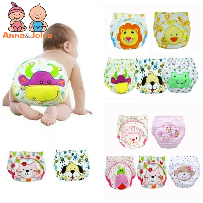 Free Shipping 30Pc/lot Baby Learning Pants Waterproof Baby Training Pant Underwear Cotton Learning/study Infant Pants 6-15kg
