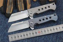 2017 New KESIWO titanium handle folding knife pocket S35V blade utility camping hunting survival knife EDC tools