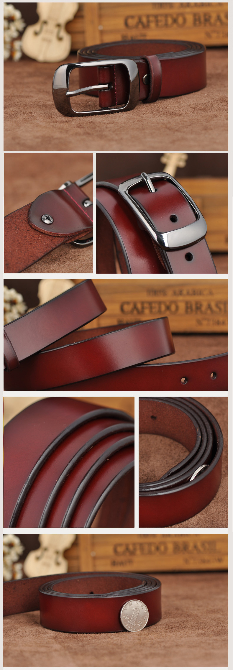 Free shipping Love strap Women genuine leather fashion all-match belt women's cowhide casual pants belt 11