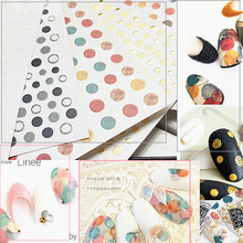 Nail Jewelry 3D Sticker Adhesive Color Wave Point Japan Ins Wind Black And White Sands Decoration