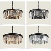 Simple Round K9 Crystal Ceiling Lamp LED Living Room Restaurant Lights Lighting Lamps Luxury Fashion Chandelier