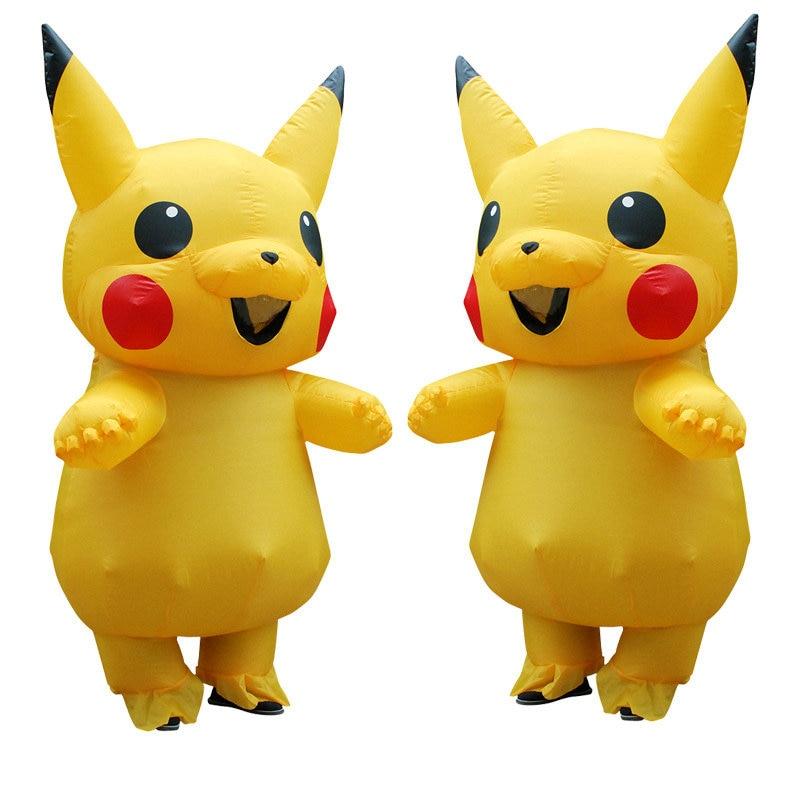 Gonfiabile Pikachu Anime Costumi Cosplay di Carnevale Pokemon Costumi di Halloween Della Mascotte Costumi per I Bambini Le Donne Adulti Uomini