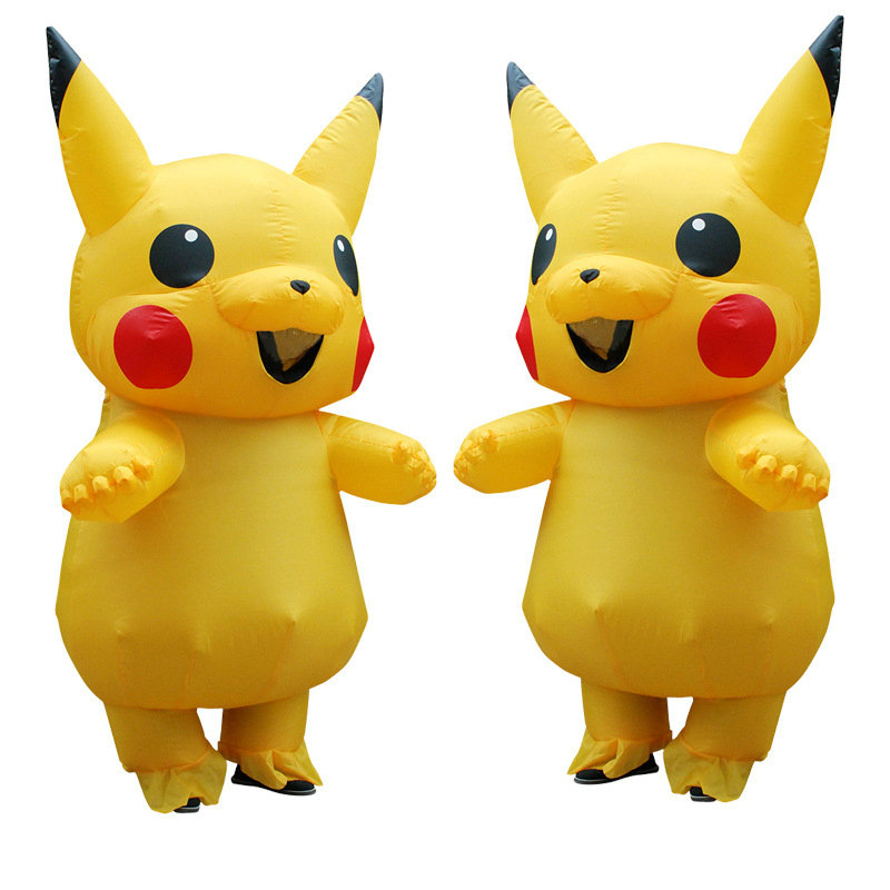 Inflatable Pikachu Anime Costumes Cosplay Carnival Pokemon Costumes Halloween Mascot Costumes for Kids Women Adults Men