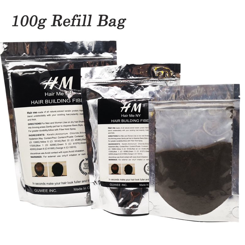 Hair-Building-Fibers Thicker Balding Women Spars 100g Fuller For Thinning Areas Refill-Bag