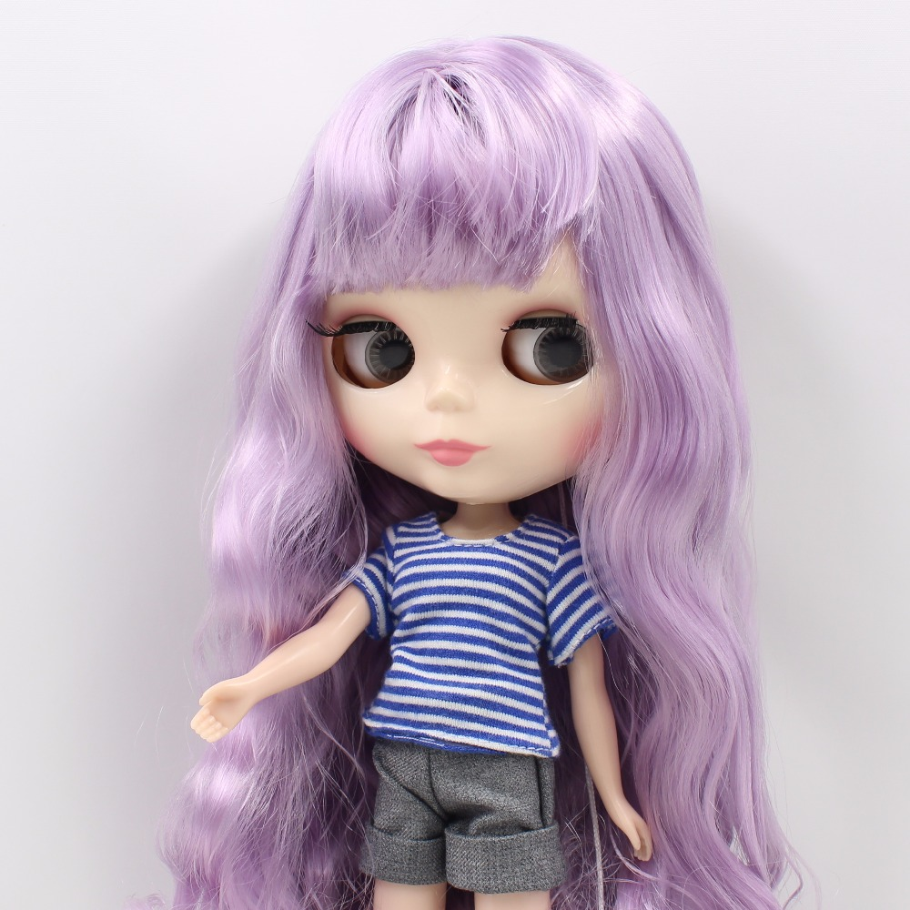 free shipping fortune days factory BL2137 1049 blyth doll light purple mix Violet hair with bangs