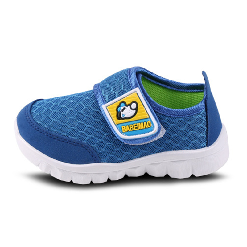 2018 New All seasons children's breathable sports shoes non-slip soft bottom boys and girls mesh shoes casual Hook & Loop Shoes