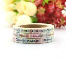 Купить с кэшбэком 3pcs TheTwilight Saga Date Time Plan Washi Tape Adhesive Tape DIY Scrapbooking Sticker Label Masking Tape