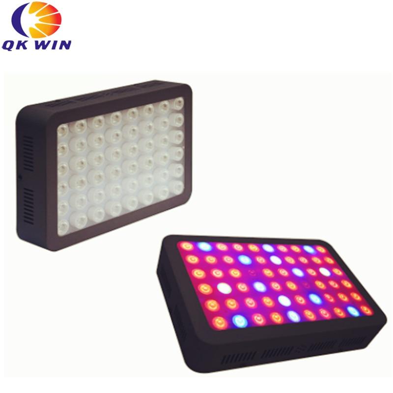 New design Qkwin 600W LED Grow Light with 60pcs double chip 10W add optical lens Full Spectrum LED Grow Light