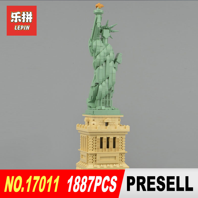Lepin 17011 Toys Architecture Series The New Legoing 21042 State of Liberty Set Toys Model Building Blocks Bricks Kits DIY new famous architecture series the arab hotel of dubai 3d model building blocks classic toys 8018