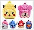 Anime Pikachu Olá Kitty Minnie/Superman/stitch/chopper Brinquedo de Pelúcia Dos Desenhos Animados Mochila sacos Das Meninas & meninos Natal presente para As Crianças
