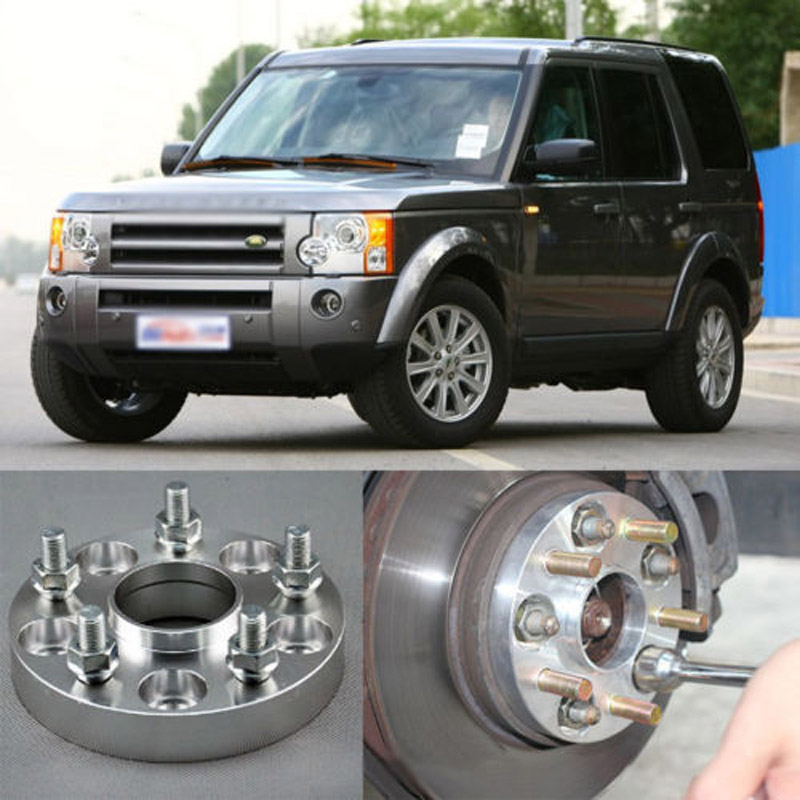 Teeze 4pcs Billet 5 Lug 14*1.5 Studs Wheel Spacers Adapters For Land Rover Range Rover 2002+/Discovery 3/4 2005+ spare wheel winch for discovery 4 range rover sports 10 13 lr064520 lr039486 land rover spare tire winch repair tools