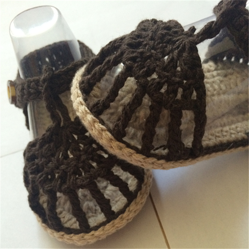 QYFLYXUE, Crochet Baby Flip Flop., Baby Summer., Crochet Baby mit - Babyschuhe - Foto 3