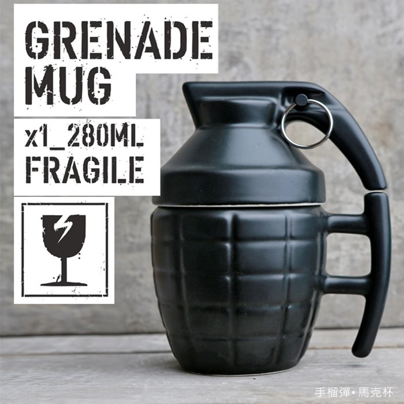 <font><b>Creative</b></font> <font><b>Grenade</b></font> Drinkware <font><b>Mugs</b></font> <font><b>Ceramic</b></font> Water Coffee Tea <font><b>Mug</b></font> Coffee <font><b>Cup</b></font> <font><b>with</b></font> <font><b>Cover</b></font> Lid <font><b>Grenade</b></font> Boom <font><b>Cups</b></font> Office Gifts