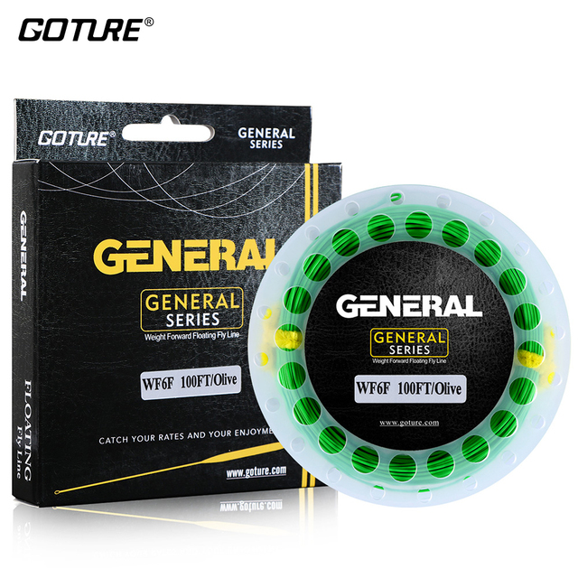Goture 30M Fly Fishing Line With Welded Loops WF3F WF4F WF5F WF6F WF7F WF8F Fly Line Weight Forward Floating Fishing Line