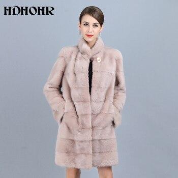 1b437f8d8ed0a Product Offer. HDHOHR 2018 новый натурального меха норки пальто Для женщин  хорошее качество ...