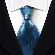 T13 Man's Smooth Classic Sky Blue Red  Blue Paisley Wedding Party Fashion Tie Silk Polyester Jacquard Woven Casual Necktie