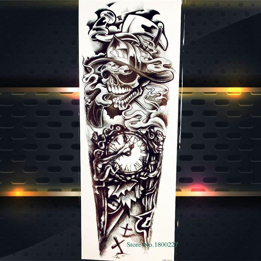 Big Full Arm Flash Temporary Tattoo Sticker 5