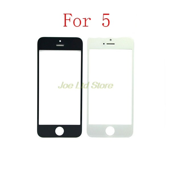 Best Quality Front Glass For iPhone 4 5 6 7 S C Plus Panel Outer Lens Replacement Front Touch Screen Glass White/Black Free Ship