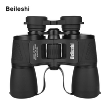Beileshi Binocular 10X50 HD Vision Wide-angle Prism Folding Outdoor Professional Hunting Telescope for Travel Concert