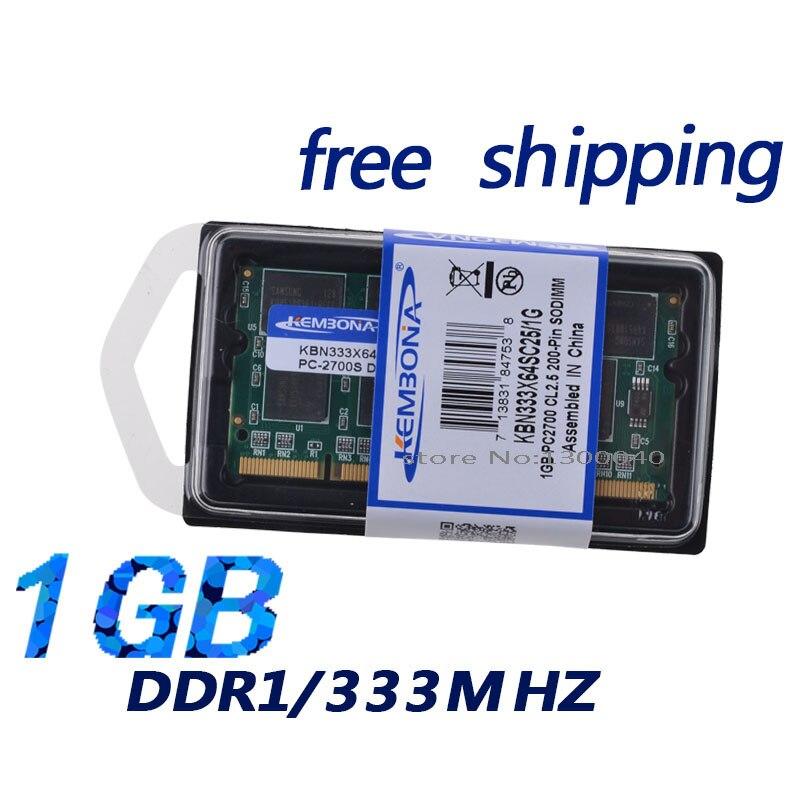 KEMBONA wholesale ddr ram 1gb 333mhz pc2700 200PIN SO DIMM laptop ram module retail packing