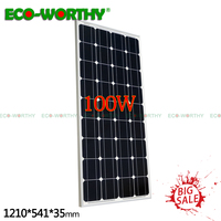 EU Stock 100W 18V Monocrystalline Solar power Panel for 12V Battery Charger Home 100W200w400w600w800w1000W Solar Power panels