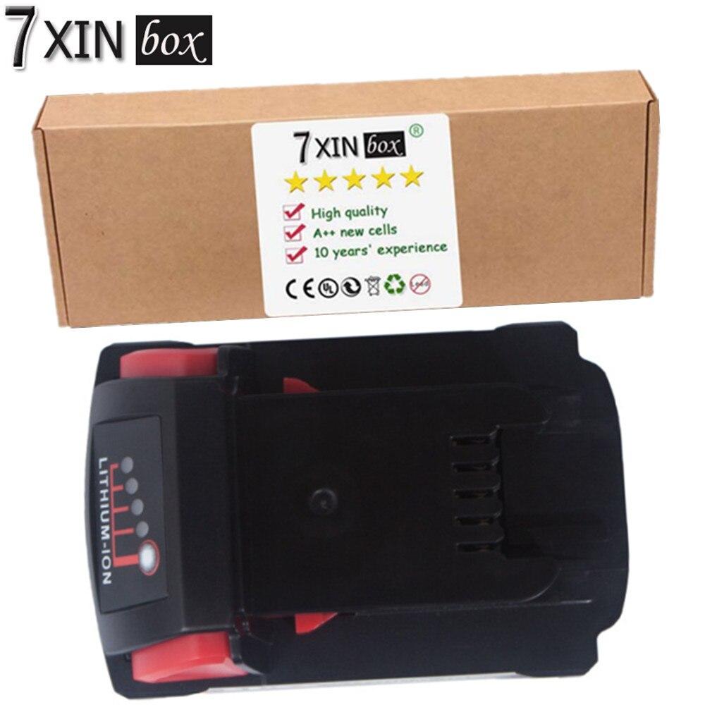 7XINbox 5000mAh 90WH 18V 5.0 Li-ion Battery For MILWAUKEE 48-11-1850 M18 XC 48-11-1820 48-11-1840 48-11-1820 Power Tool Battery 2 x panku 18v lithium 4000mah replacement rechargeable power tool battery for milwaukee m18 xc 48 11 1815 m18b2 m18b4 m18bx