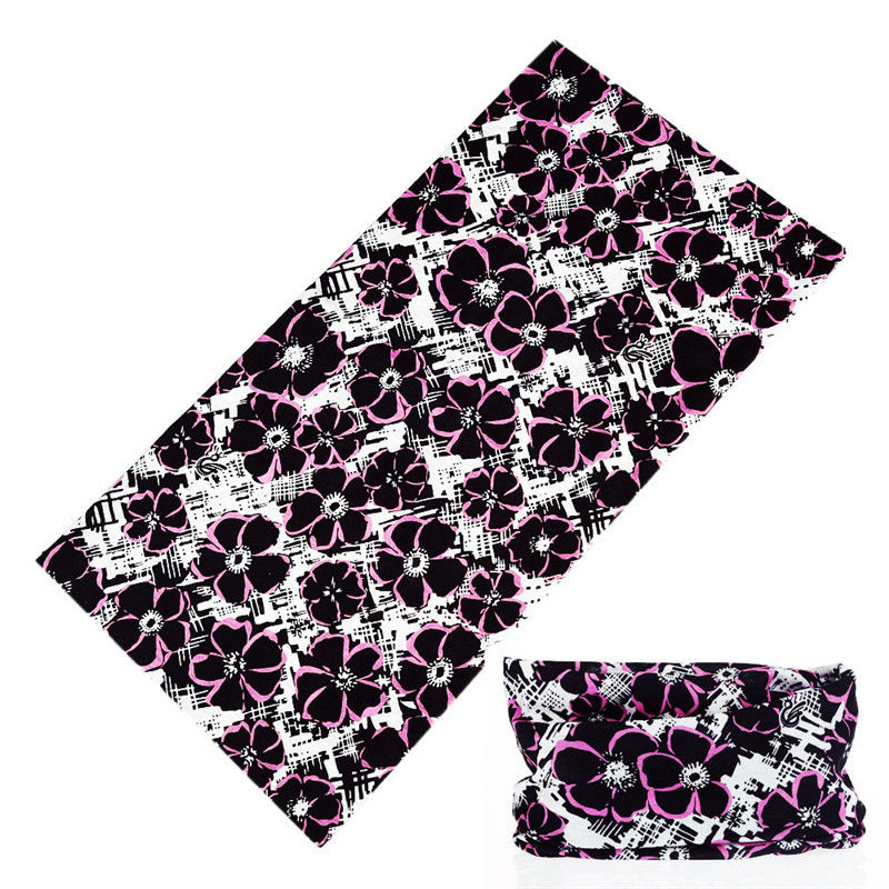 Beautiful Pink Plum Flower Printing Magic Neck Scarf Buffe New Design Multi Use Sports Moto Cycling Bandana Headwear Face Mask
