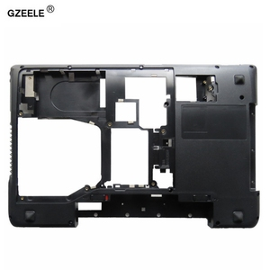 Image 1 - GZEELE For Lenovo for IdeaPad Y570 Y575 Bottom Base Cover Case D Cover case shell LAPTOP BOTTOM CASE with HDMI AP0HB000800 BLACK