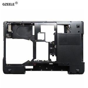 Image 1 - GZEELE Lenovo IdeaPad Y570 Y575 alt taban kapak kılıfı D kapak kılıf kabuk dizüstü alt kasa ile HDMI AP0HB000800 siyah